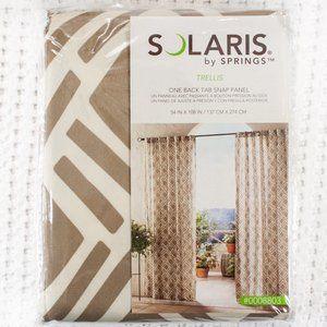 "Solaris Outdoor Curtain - Tan Trellis - 54""x108"""